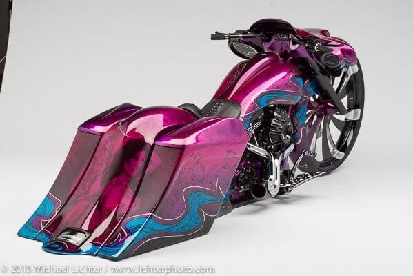 purple  blue custom bagger