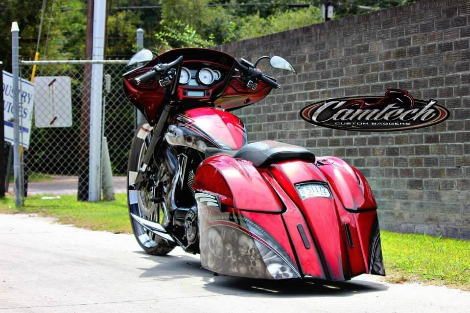 Victory Motorcycle Parts >> Red Skulls Victory Bagger   Camtech Custom Baggers   Bike, Motorcycle, Chopper