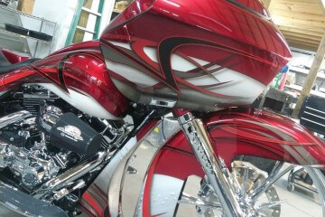 Red Stripe Custom Paint