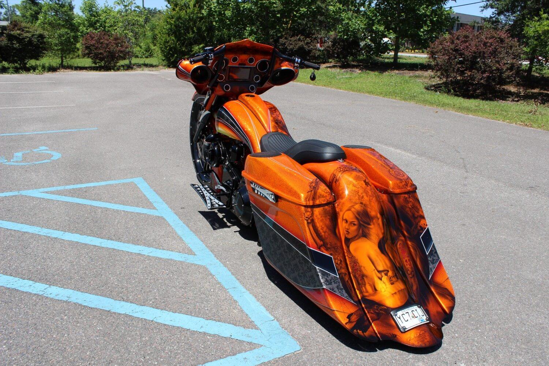 Harley Davidson Chopper >> Flake Orange Street Glide | Camtech Custom Baggers | Bike ...