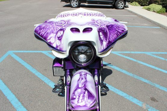 Custom Paint on Motorcycle