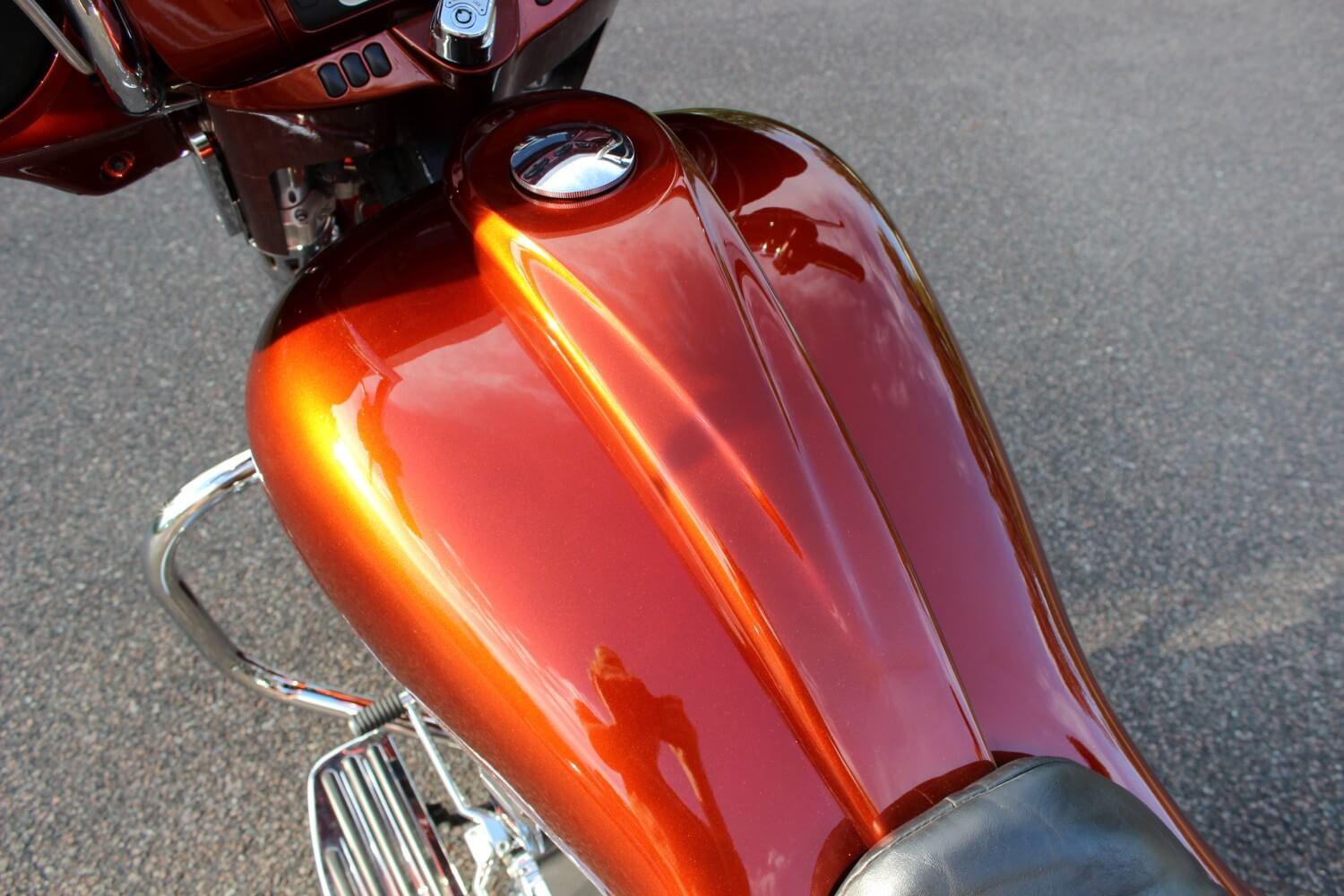 Custom Orange Paint Motorcycle