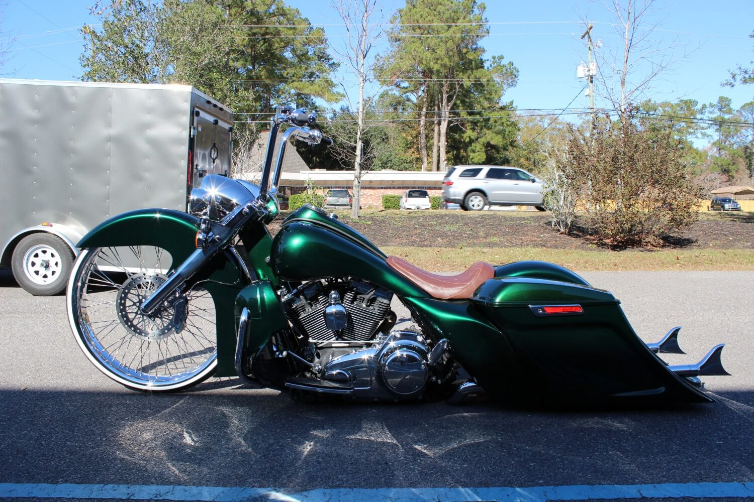 Chevy Parts Dealer >> Chevy Green Road King | Camtech Custom Baggers | Bike, Motorcycle, Chopper