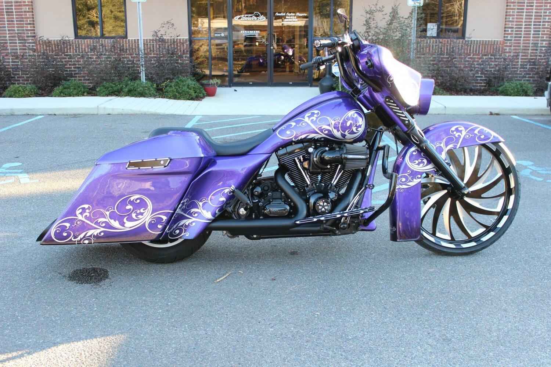 Street Glide For Sale >> Purple K Street Glide | Camtech Custom Baggers | Bike ...